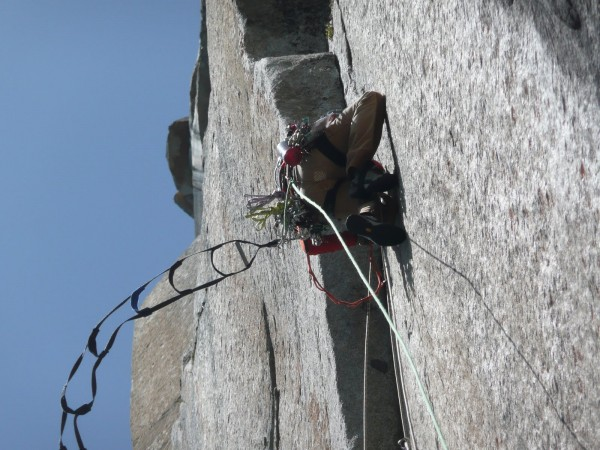 Aid climbing in high winds can be soul sucking