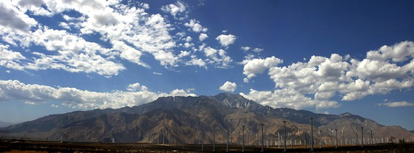 Mount San Jacinto from Whitewater windfarm - Miramontes Photography