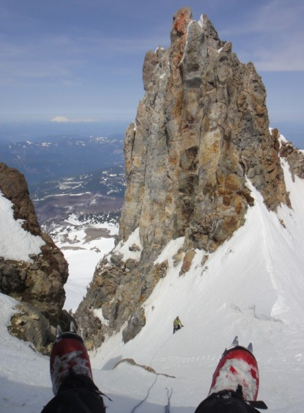 I am coming up the couloir