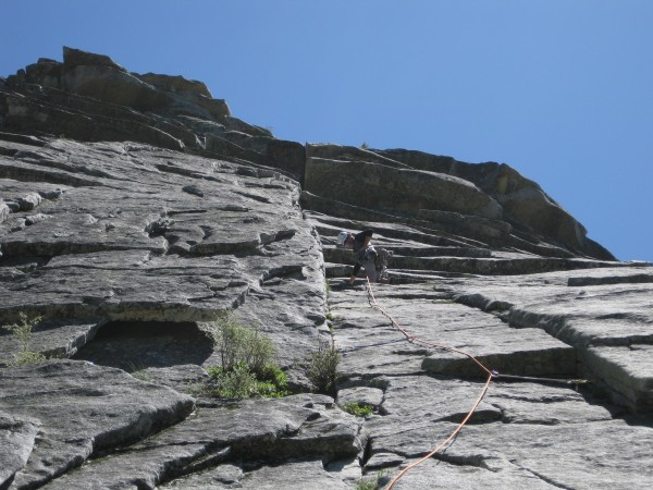 Steve on first pitch of Harvey Wallbangers Right (5.7)