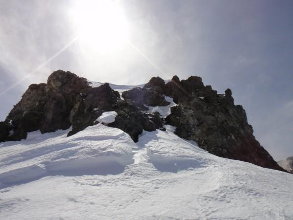 Summit block via the north face direct