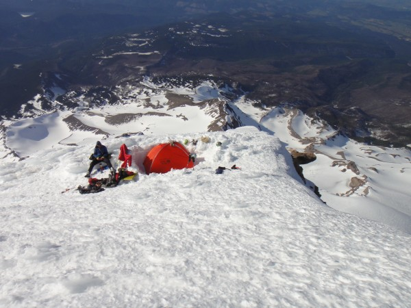 Camping out on the summit ridge
