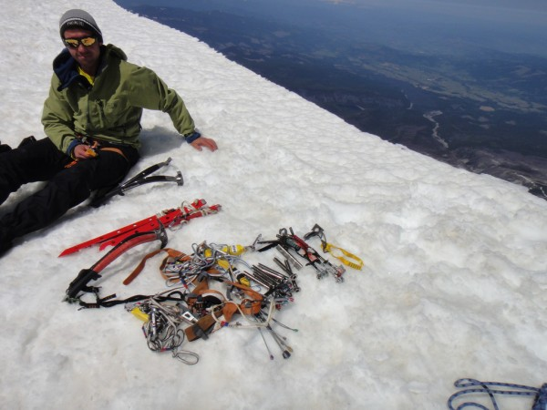Vitaliy and the rack on the summit