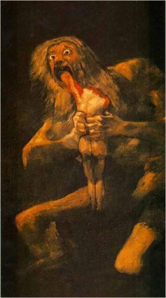 Chronos devouring his children.