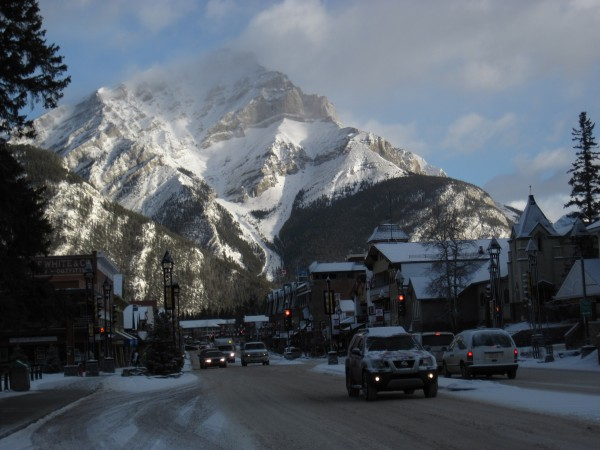Banff, Alberta, en route to the airport in Calgary - 2/22/12