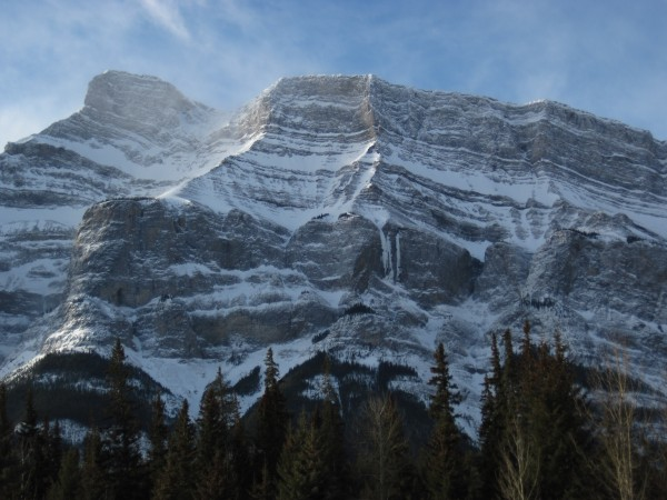 Mt. Rundle and the Trophy Wall - 2/22/12