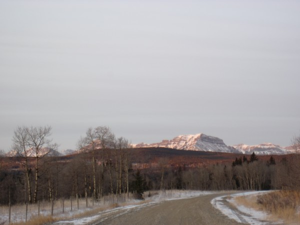 Nice driving conditions getting to the Ghost River Valley - 2/24/12