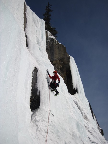 My lead, 3rd pitch on the Weeping Wall - 2/27/12