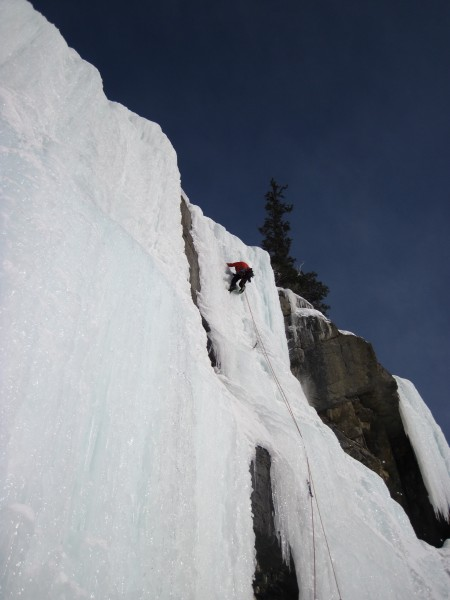 The 3rd pitch on the left side of the Weeping Wall -  2/27/12