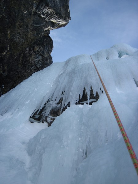 Rapping down Bow Falls - 4/9/12