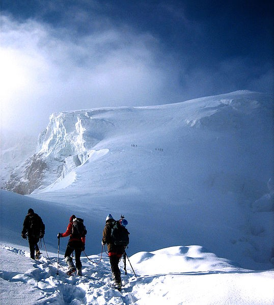 Climbers on Ortles.