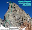 Direct SE Face of Clyde Minaret (IV, 5.9+) - Click for details