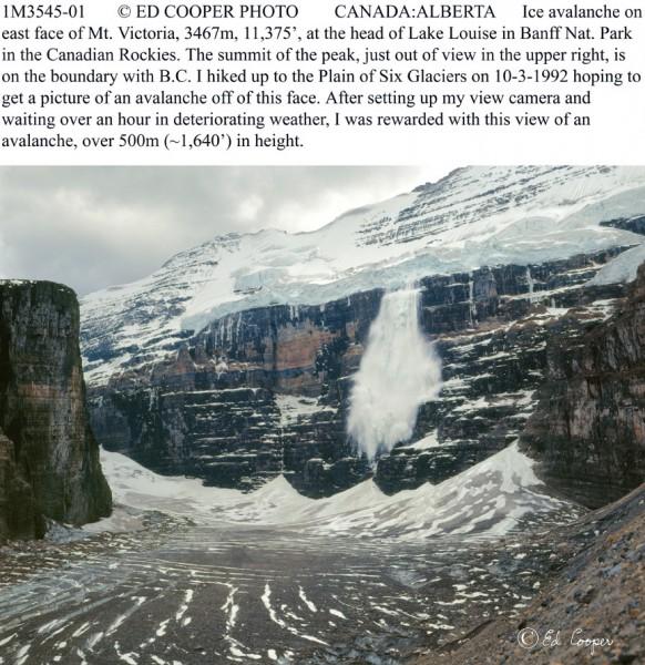 Mt.Victoria Avalanche, Alberta.