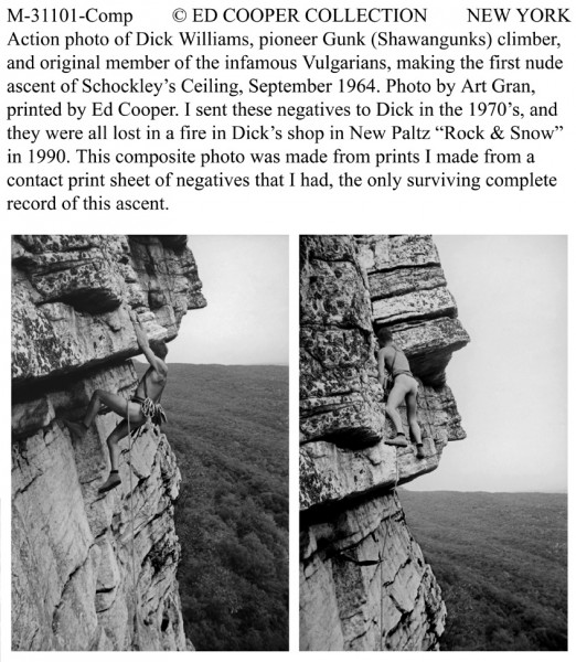 Infamous nude ascent, Schockleys Ceiling,Gunks, NY