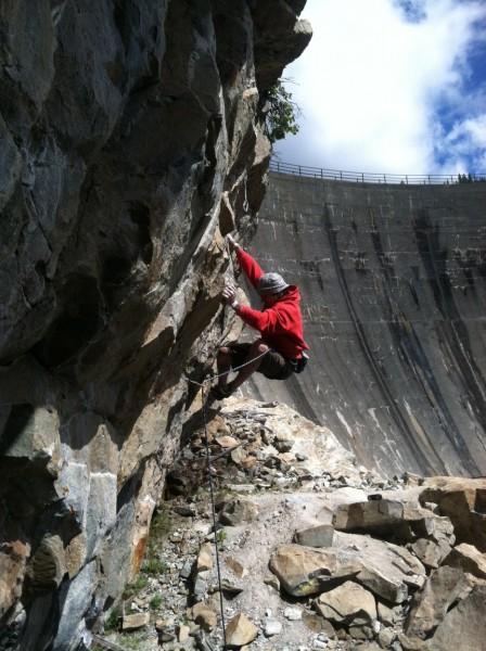 Hansi Standtheiner on the 3rd ascent of Thrillbilly .11d - Larryland, ...