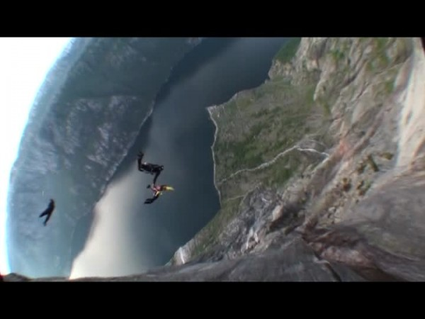 free flying in the lyse fjord
