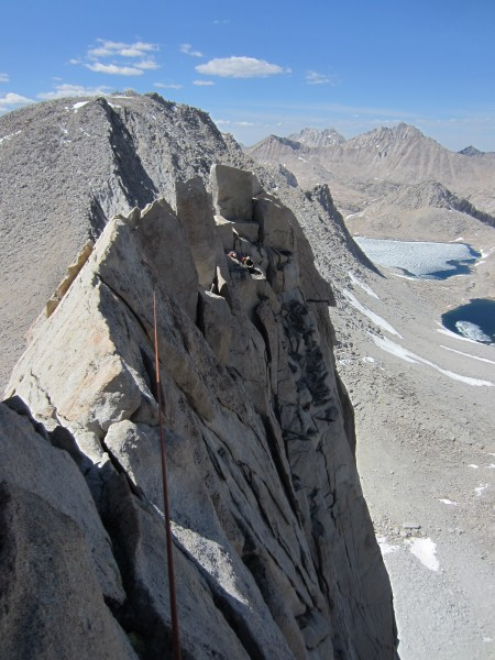 Knife-edge ridge scramble to the summit