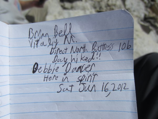 Our signature in the summit register