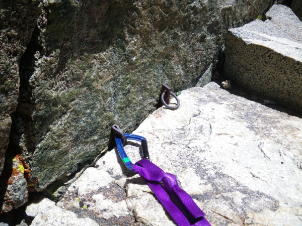 Two-piton belay mentioned in some guidebooks
