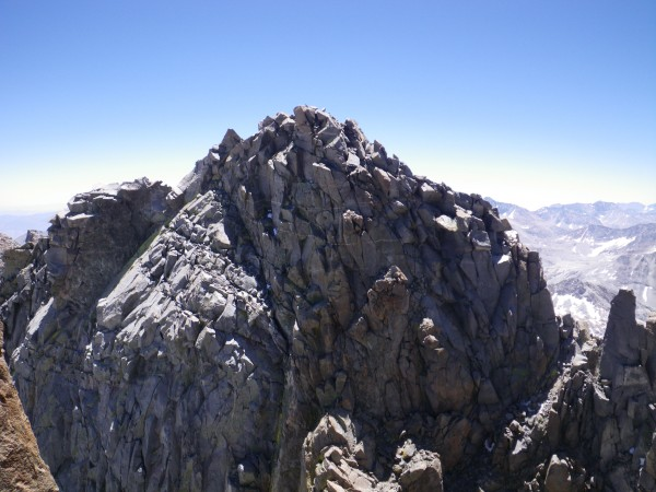 Looking across the U-Notch in the direction of Polemonium Peak