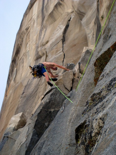 Alex Honnold climbing up to Camp IV on the Thursday training run