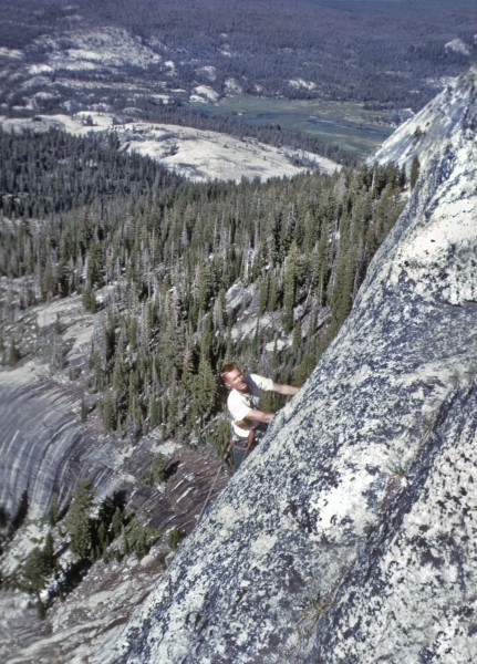 Glen Denny first ascent Inverted Staircase 1962