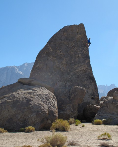 Alabama Hills, Shark Fin Arete.