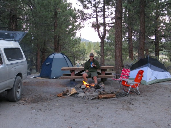 June Lake camp site, night 3.