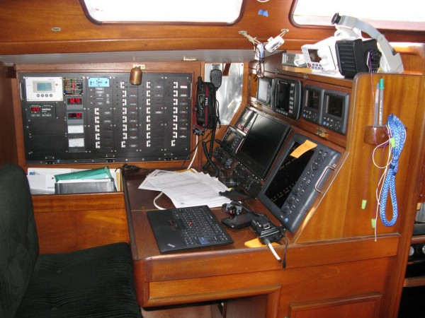 Navigation station, control central.