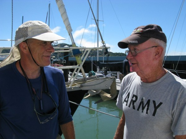 Michael and Brigadier General Ken Roper, age 82, on his 12th Singlehan...