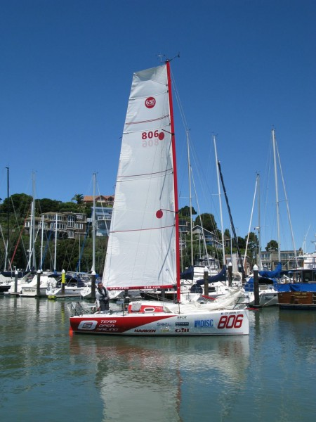 Pogo- a Mini TransAt.  21 ft in length, Mini's are a popular class in ...