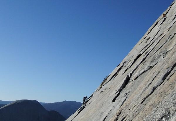 Dan follows Bob on the West Face of Mt. Starr King