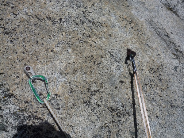 West Face belay bolts