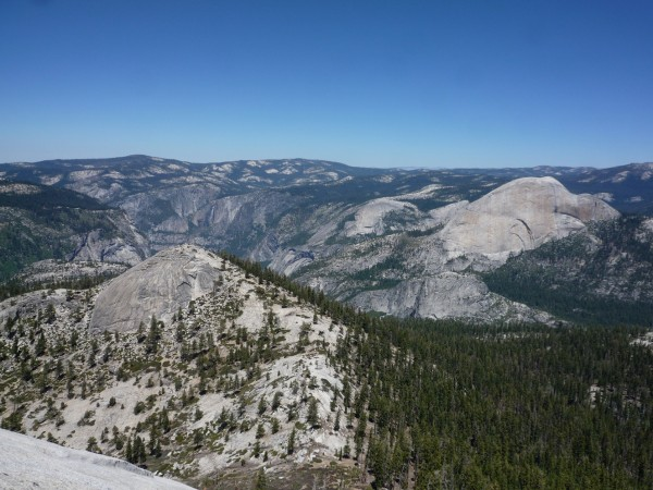 Yosemite Falls, Royal Arches, North Dome and Half Dome.