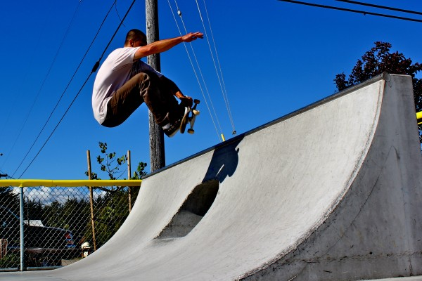 Not a longboard.  But I love to skate!  Fern st skatepark, Santa Cruz ...