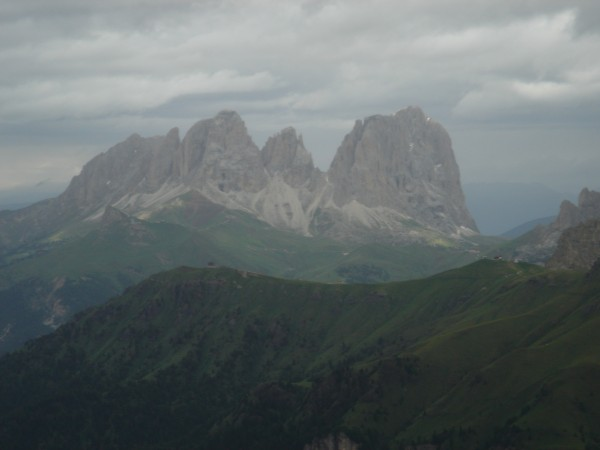 five fingers (center) and sassolungo (right)