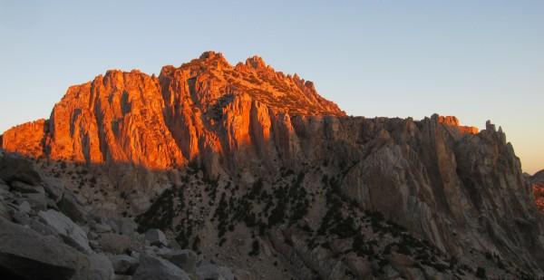Sunrise over Outguard spire etc