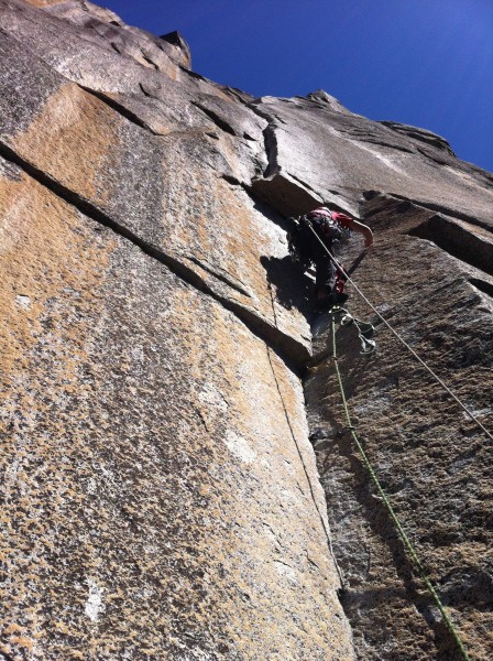 John leading the 6th pitch. Prow
