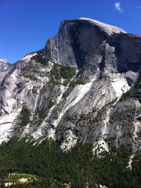 The view of Half Dome was amazing