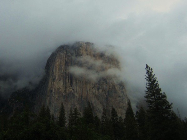 El Capitan on a rainy Saturday