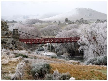 Ophir bridge/Central Otago, NZ, 3 days ago.   Chris Riley photo