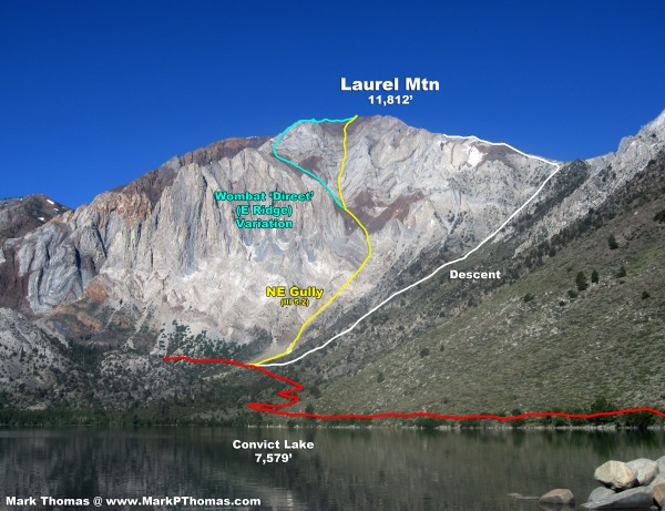 Laurel Mtn from Convict Lake. 3,500' to climb!