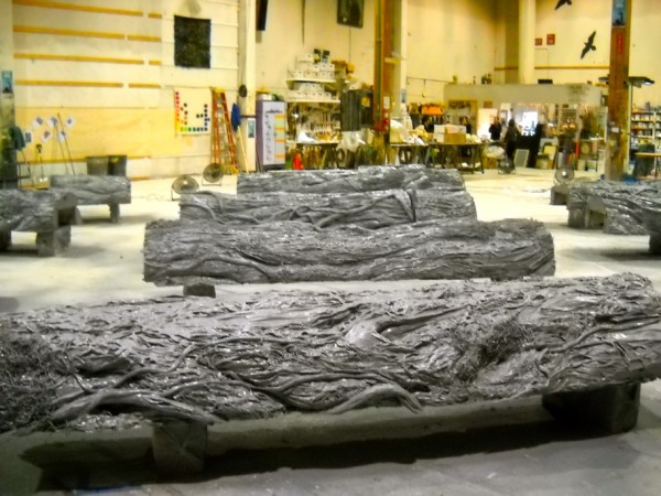 Sculpted and polyshielded Avatar Trees for EMP Museum, Seattle.