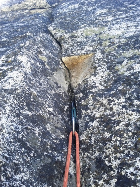 """20"""" x 5"""" x 3"""" rock that broke off at the start of the second pitch &#4..."""