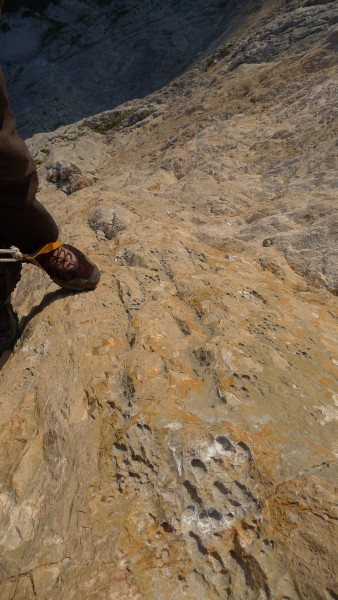 Me jugging the 5.13b pitch