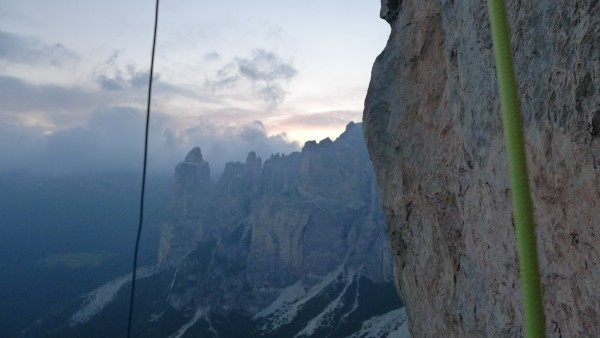 The view from the bivy on top of P 14. Magic!