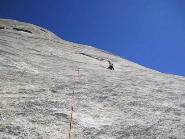 Crest Jewel, P4.  Nothing like 1 bolt in 100 feet!  Okay, the climbing...