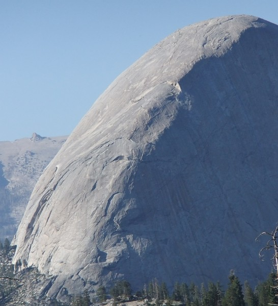 Half Dome - SW Face, from Mono Meadow trail