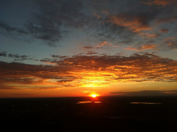 First pitch - sunrise!