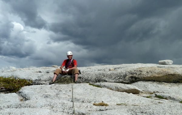 The summit. Nice place to get stuck by lightning.
